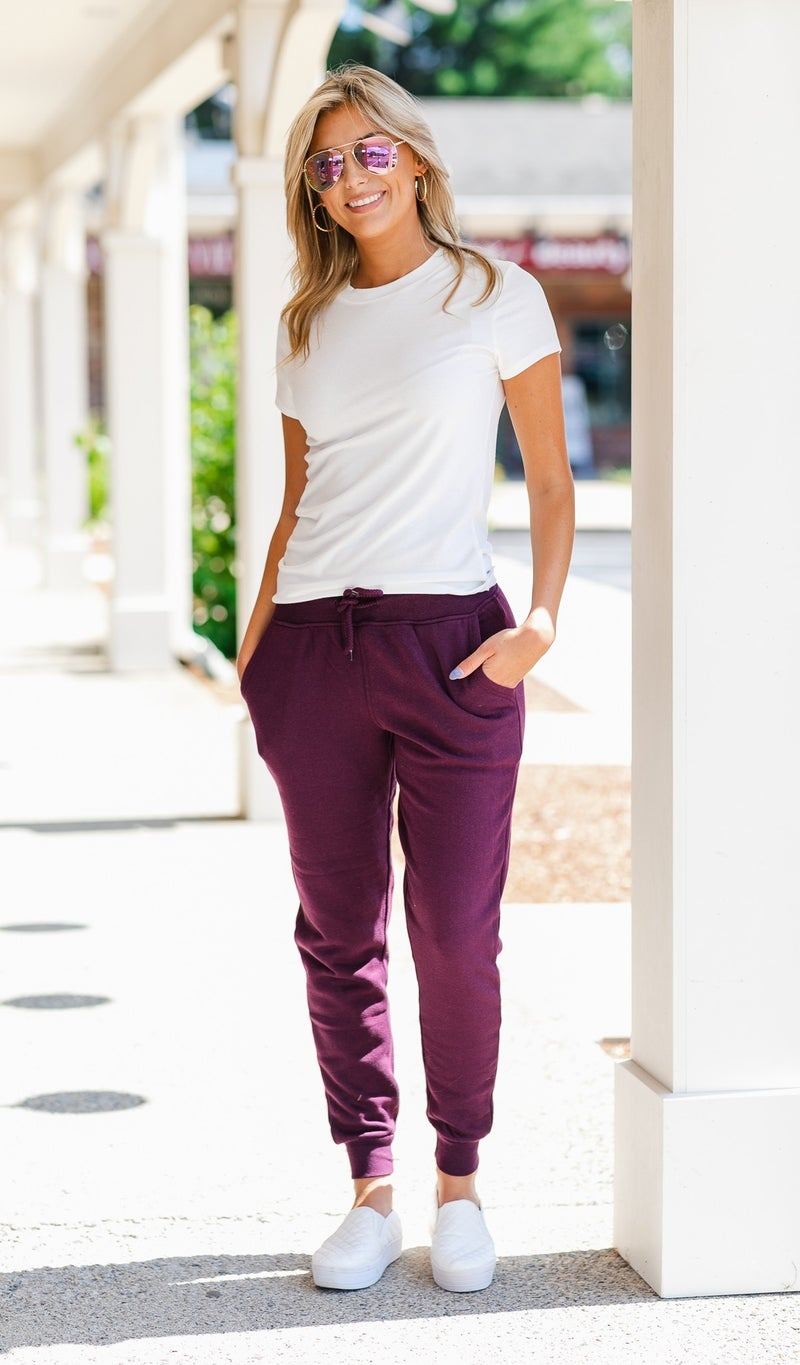 Stand Out jogger, Grey or Plum