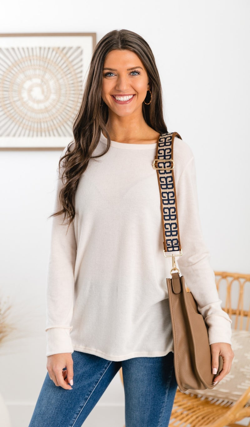 Cute As A Button Top, Ivory