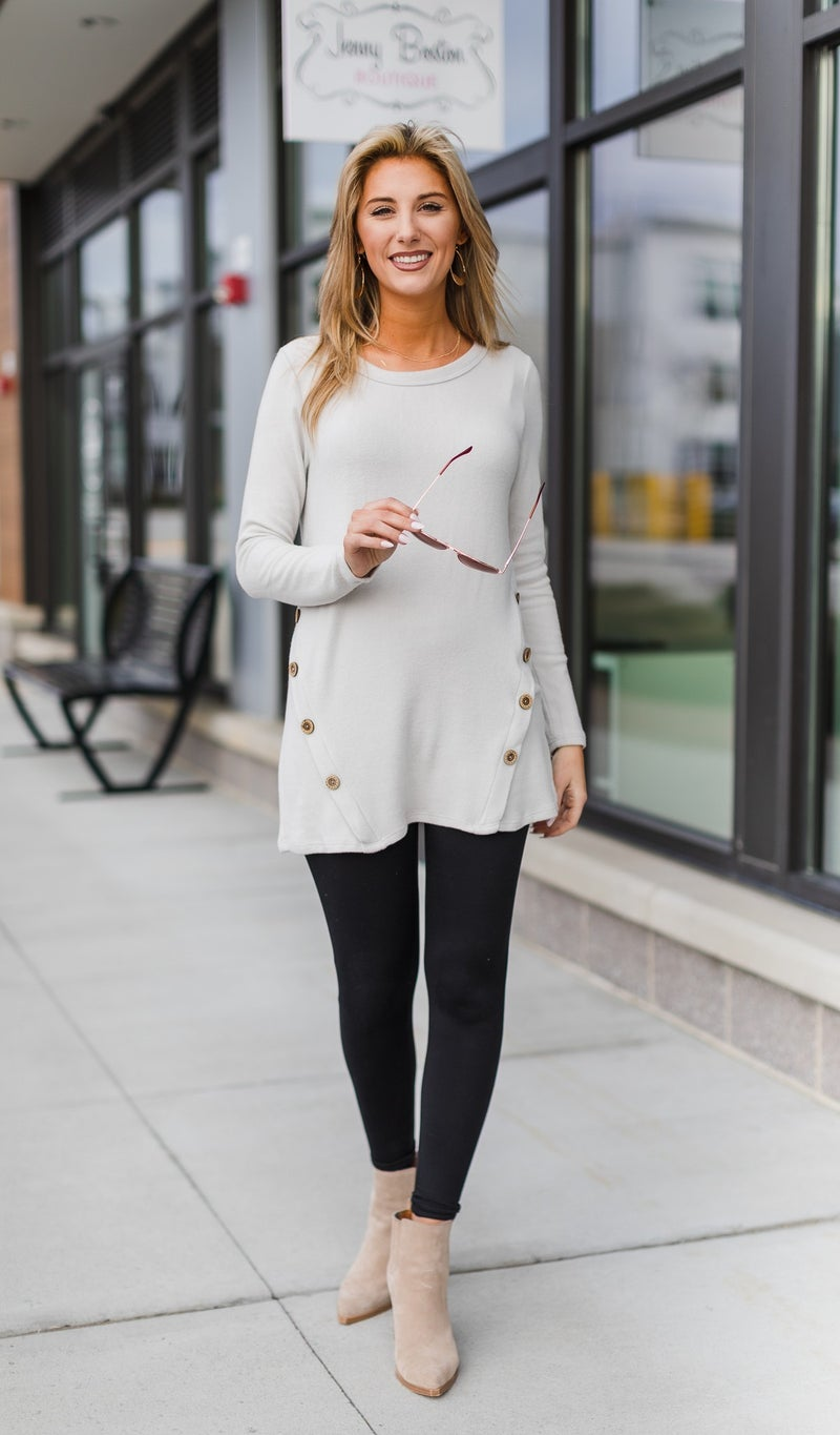 Bare It All Tunic, Bone