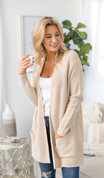 Bundle Up Cardigan, Oatmeal