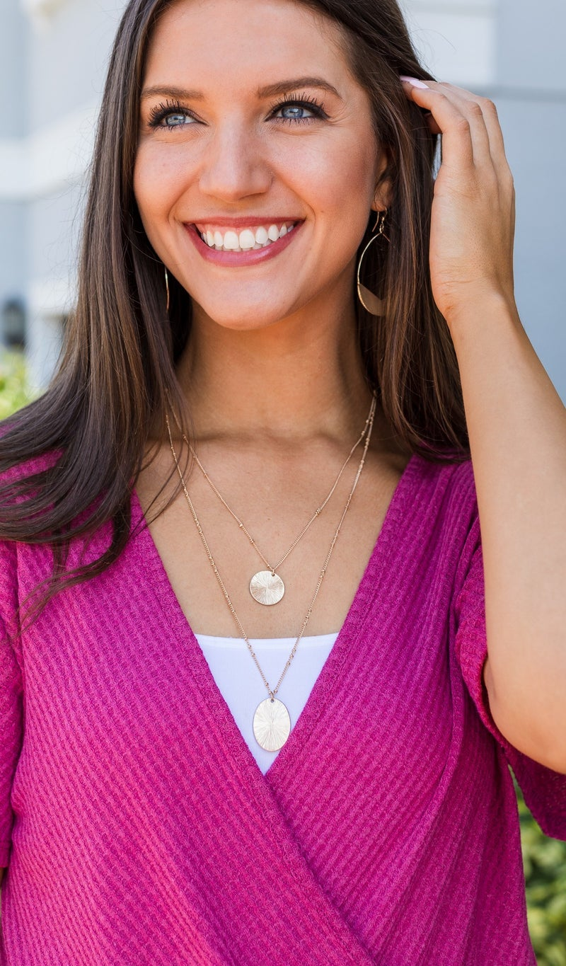 Sparkle All Day Necklace, Silver or Gold