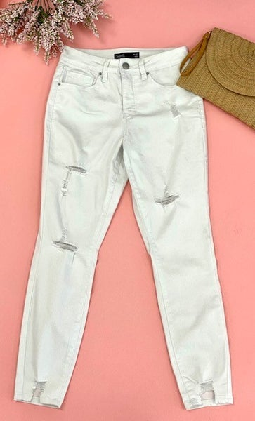 The Looking Good  High-Rise Jean, White