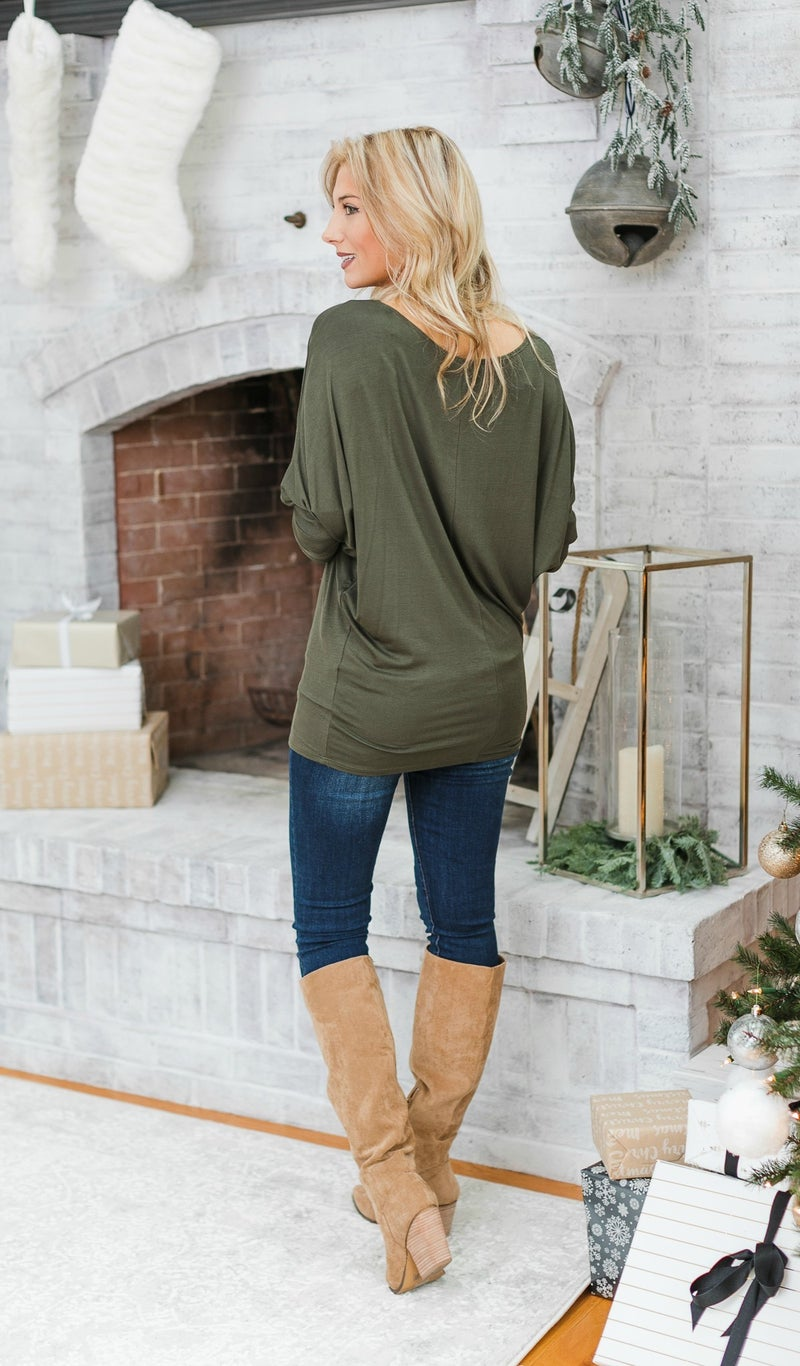 The Shannon Top, Olive