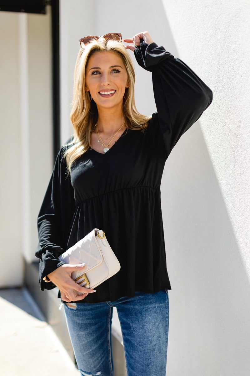 The Angelica Top, Black