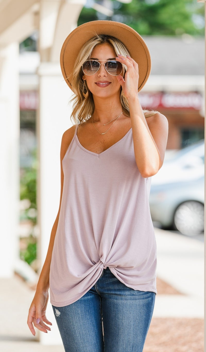 Simple And Easy Tank, Mauve