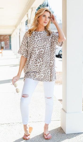 Feeling Fun Top, Leopard