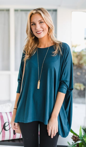 The Emmy Top, Navy or Teal