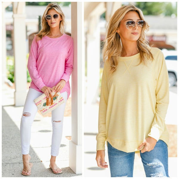 Free to Move Tunic, Pink or Yellow