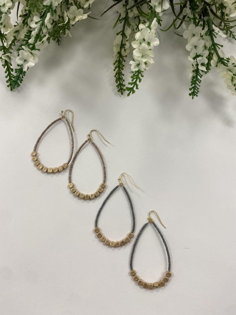 Amelia Teardrop Beaded Earrings