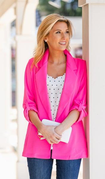 Times Up Blazer, Pink