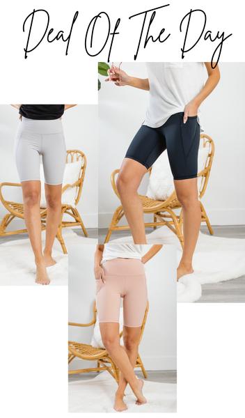 All You Need Biker Shorts, Blush, Grey, or Black