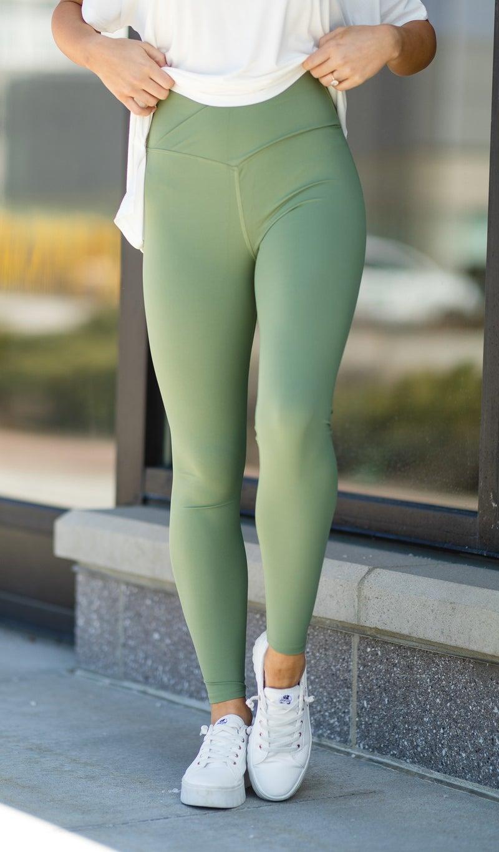 Stay On Trend Leggings, Spring Green