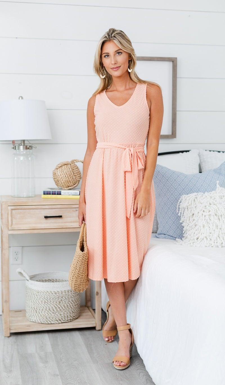 Cute And Classic Dress, Peach