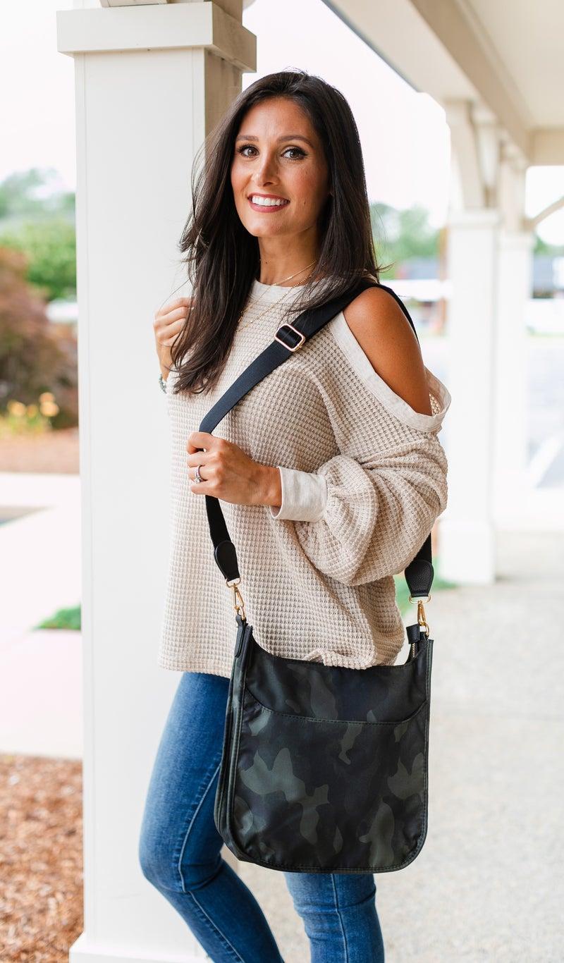 Margo Messenger Bag,  Black, Camo or Grey