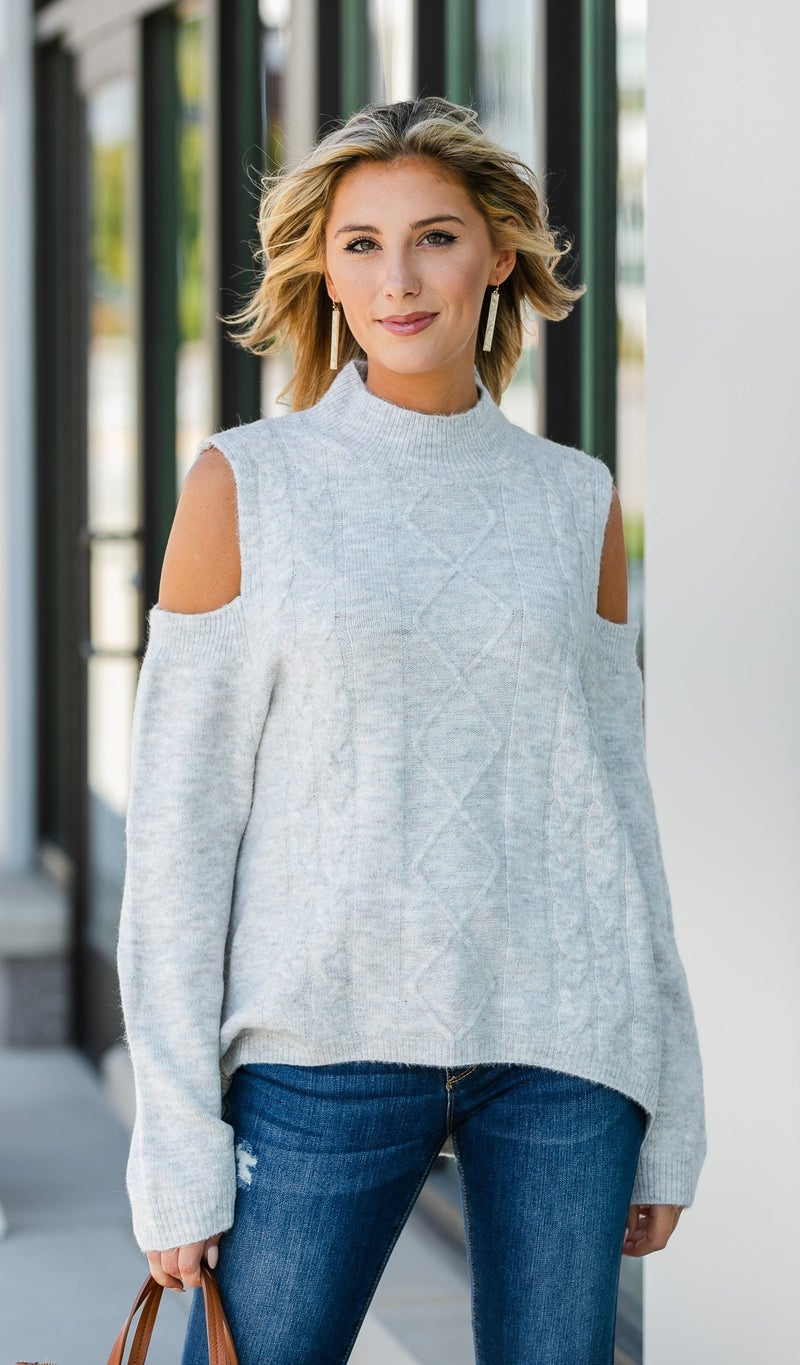 The Gemma Sweater, Charcoal or Natural