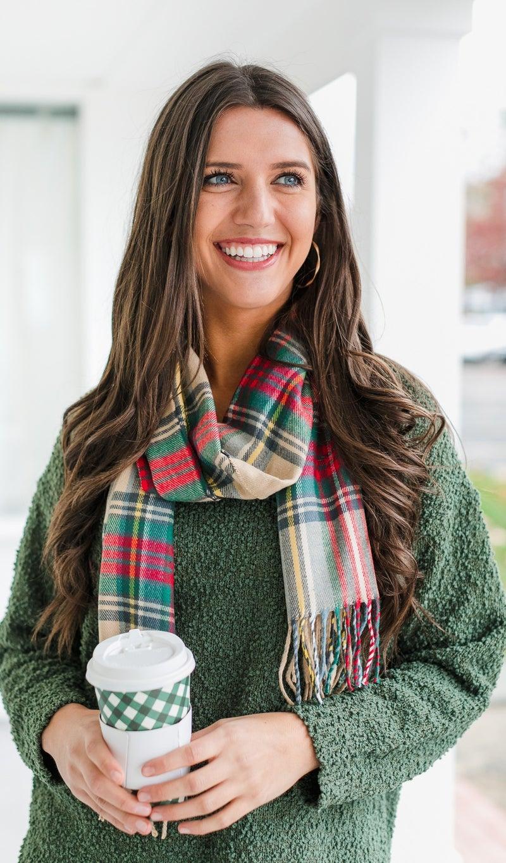 Winter Crisp Knit Sweater, Olive