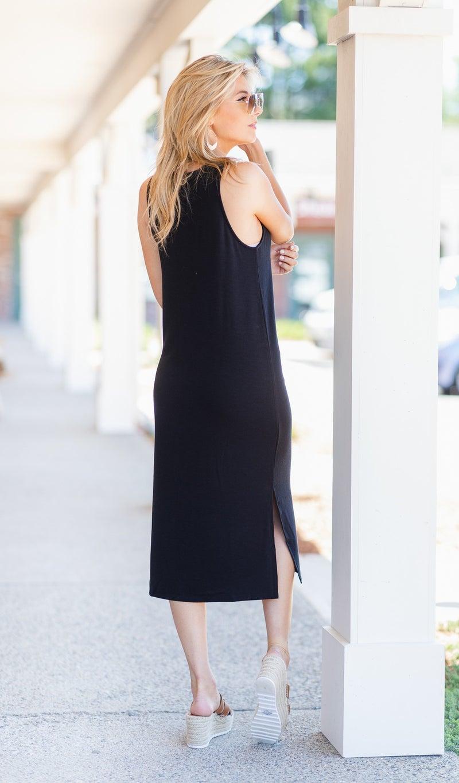 Easy Transition Midi Dress, Black