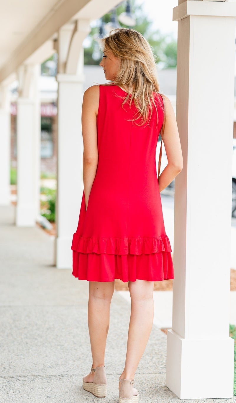 Calling Your Name Dress, Red