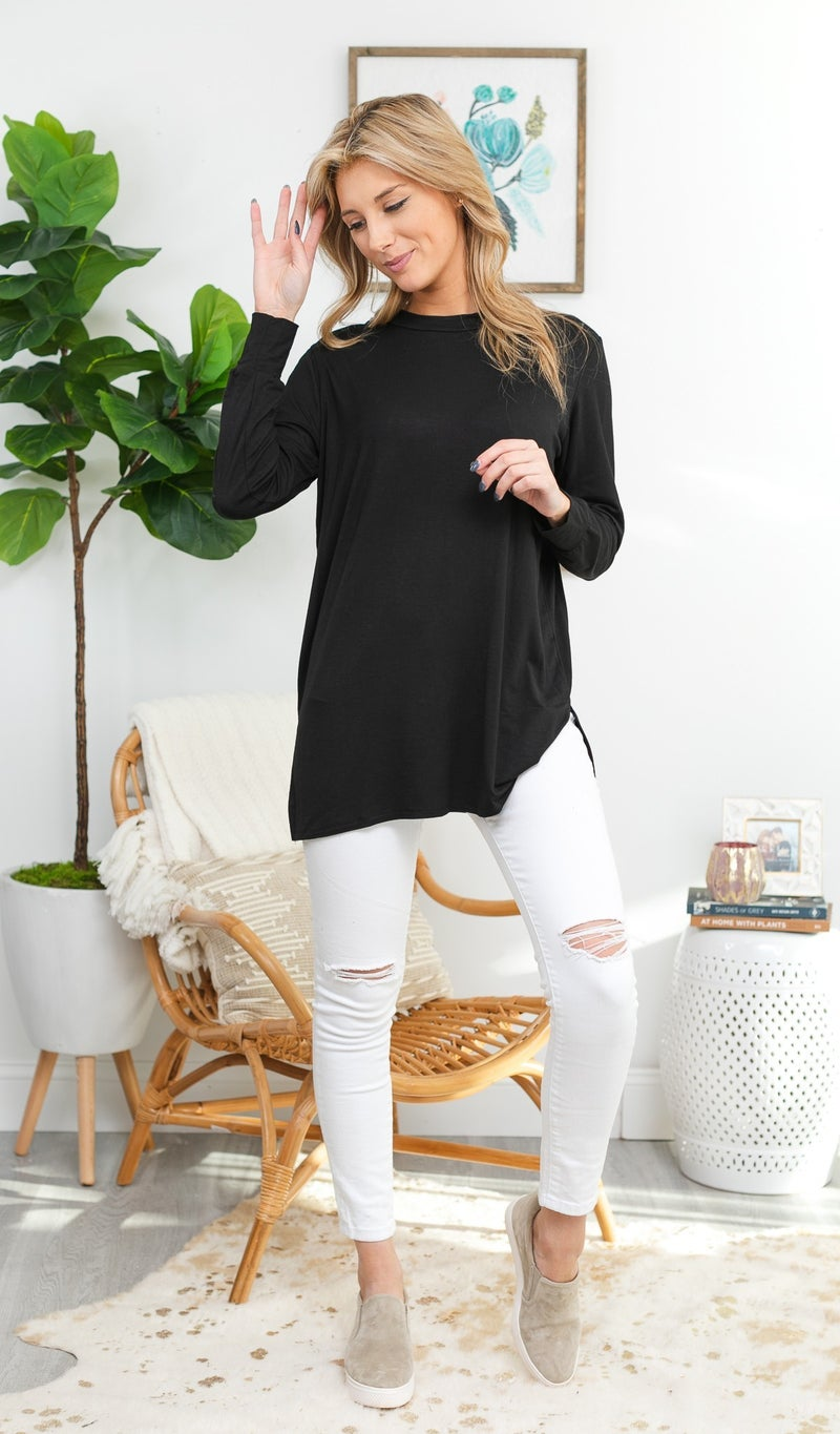 Anything but Basic Tunic, Black, Ivory or Teal