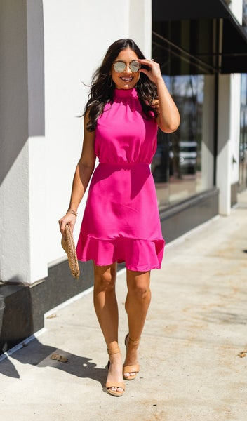 Your Lovely Day Dress, Fuchsia
