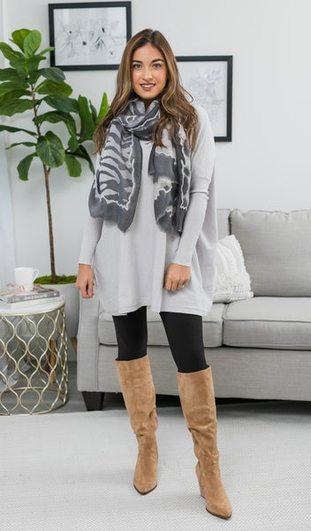 Cloudy Sky Sweater, Grey