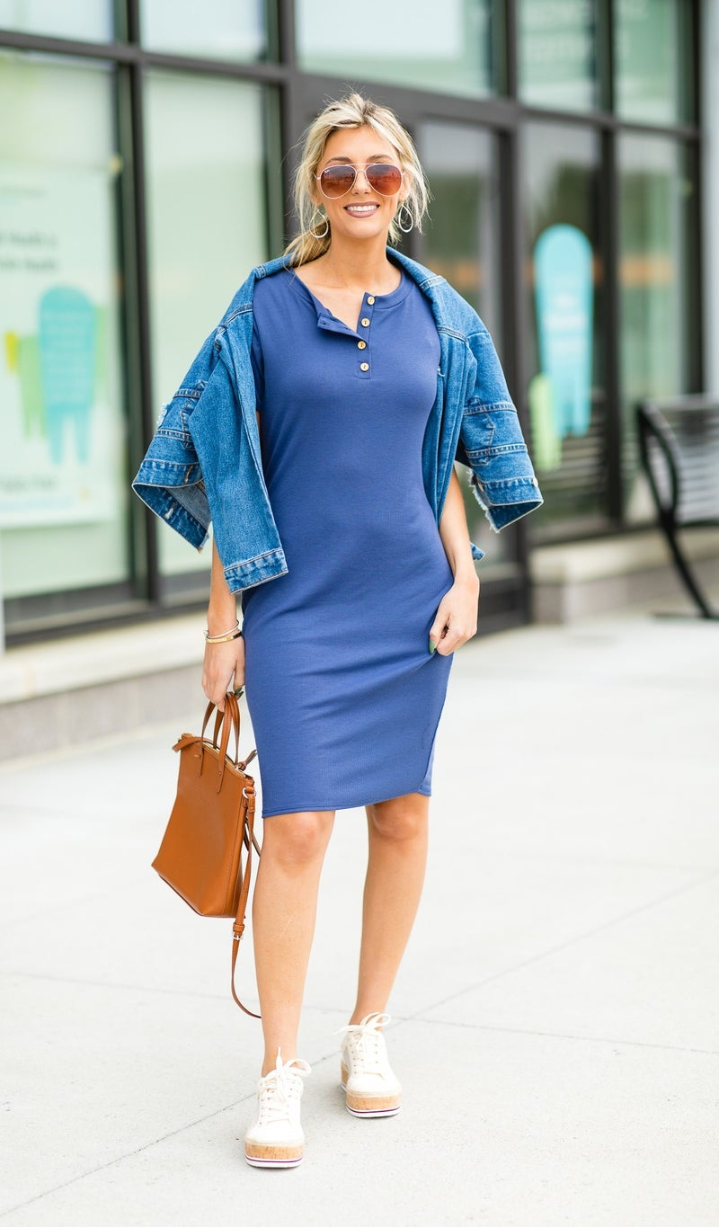 The Lily Dress in Cobalt