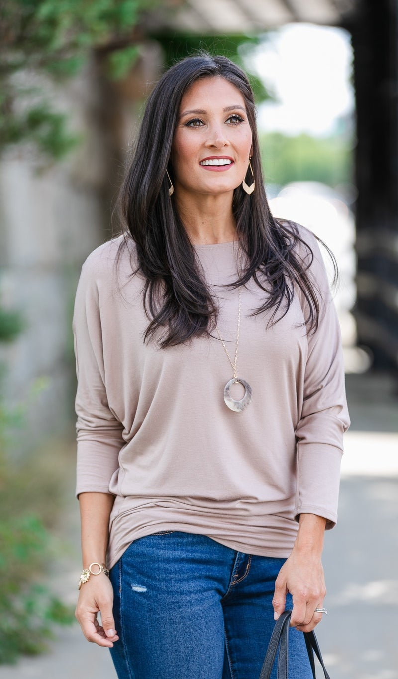 Always A Keeper Top, Taupe