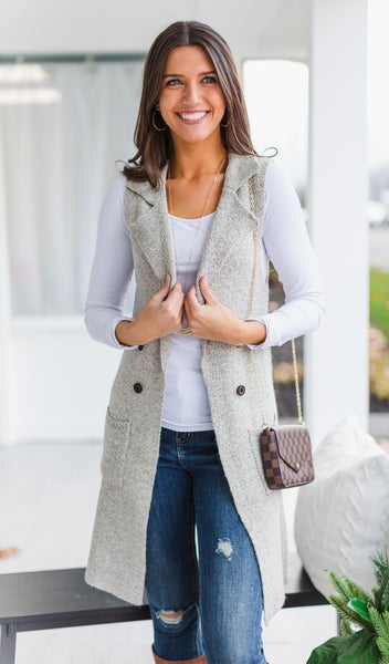 Nothing But Warmth Vest, Oatmeal