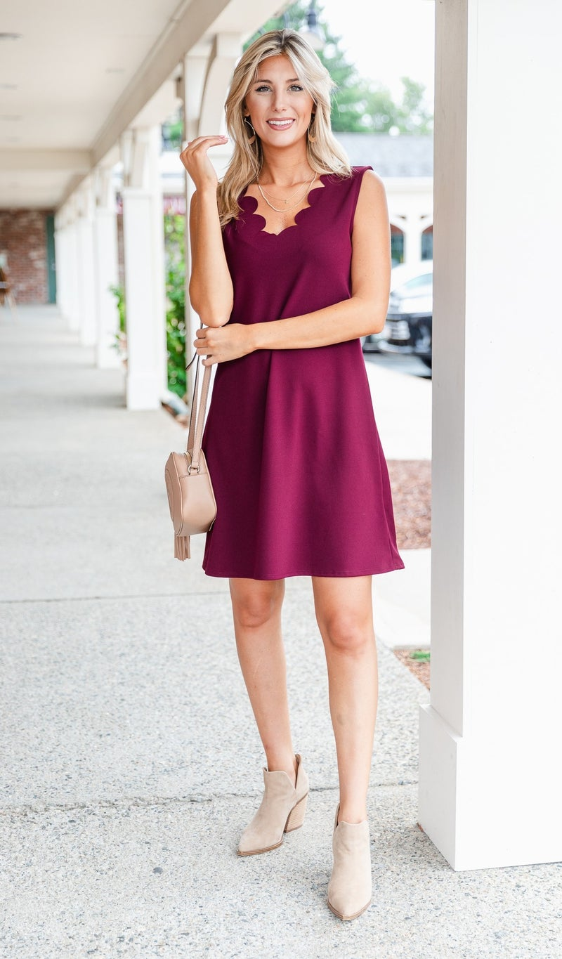On A Mission Dress, Burgundy