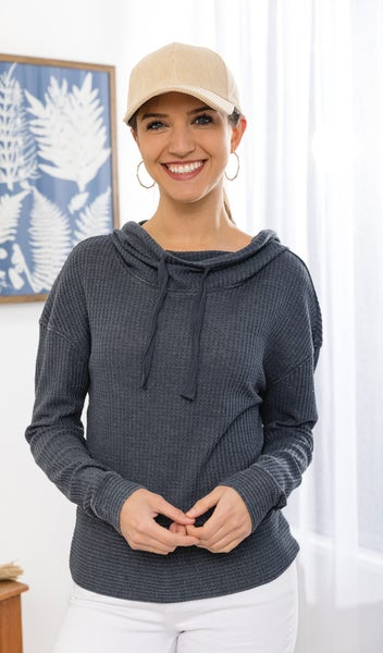 The Countdown Cowl  Top  Charcoal