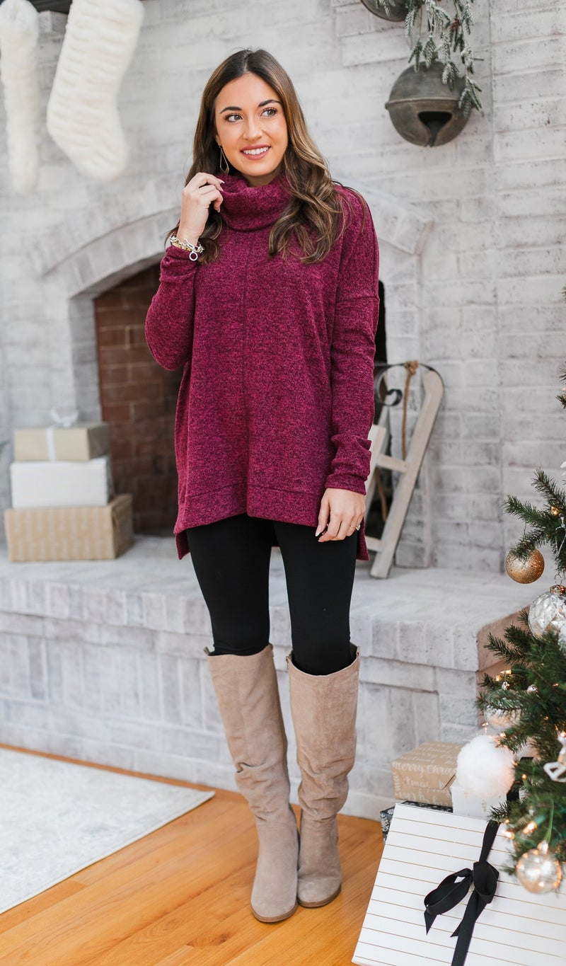 The Sadie Tunic, Burgundy