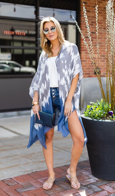 The Santa Monica Kimono, Blue New
