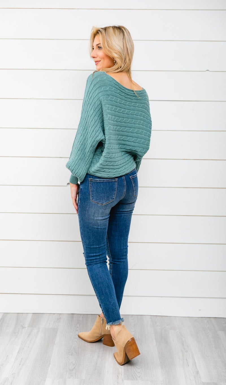 Winter Staple Sweater, Moss