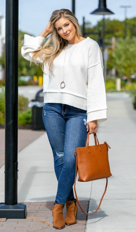Feeling Fall Sweater, Ivory