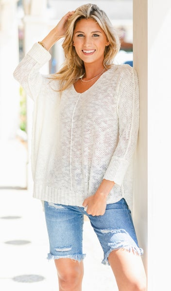 Feels Like Summer Slouchy Sweater, Ivory