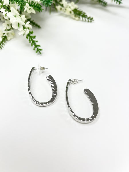 Work And Play Earrings, Silver and Gold