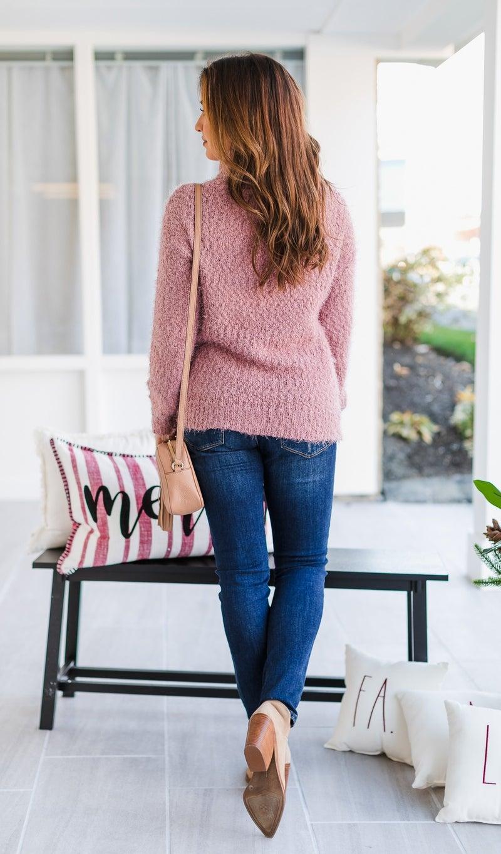 The Logan Sweater, Mauve