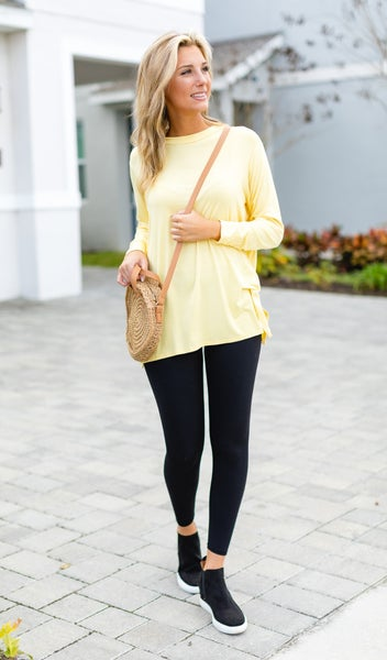 Anything But Basic Tunic, Yellow