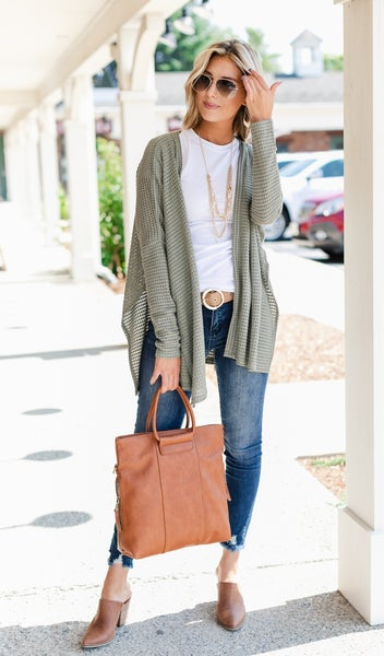 Comfy As Always Cardigan, Olive