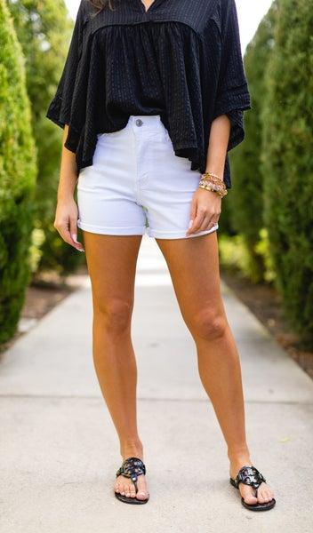 Summer Staple Shorts, Bright White