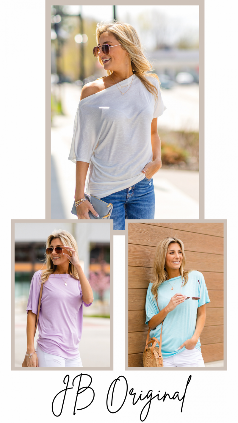 Cape Living Top, Ivory, Black, Sage, Lilac or Turquoise