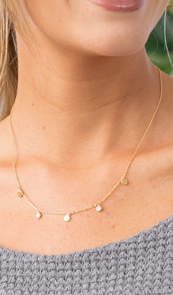 Keep Up Necklace, Silver or Gold