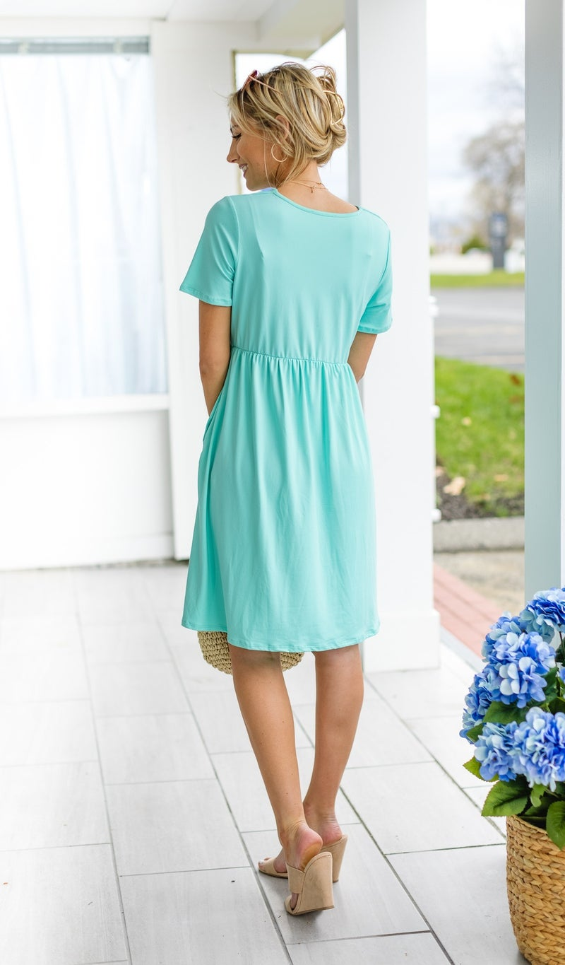 All Occasions Dress, Mint, Black or Coral