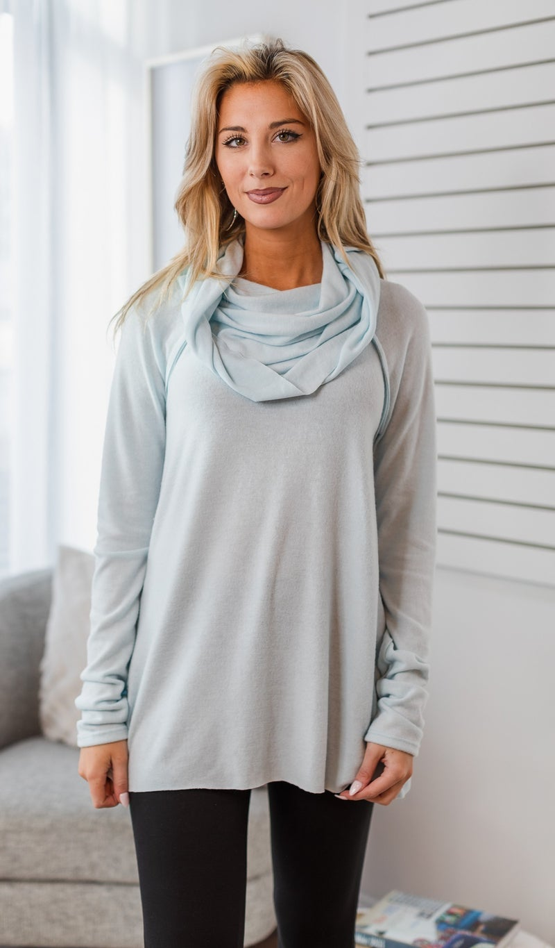 Dream Lounge Tunic, Ice Blue