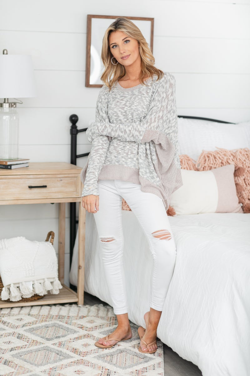 On A Dream Knit Top, Oatmeal