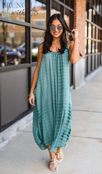 The Emerald Isle Dress, Sage