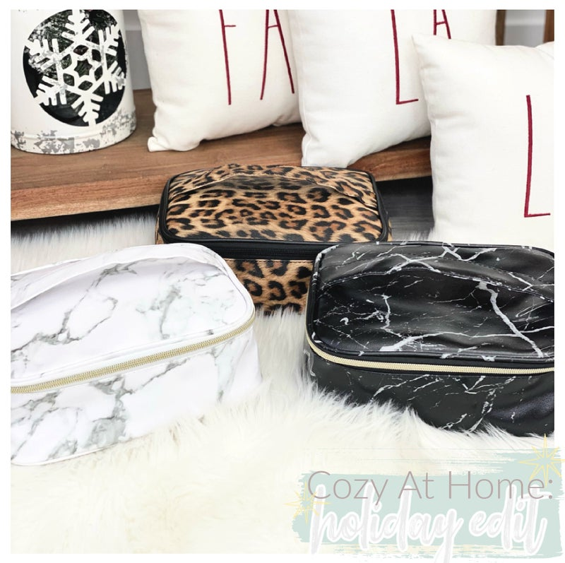 Close Up Ready Makeup Bags, Marble, Print or Black