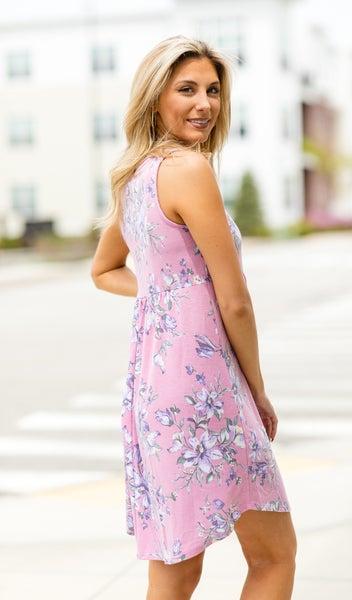 Tea Time Dress, Pink Floral