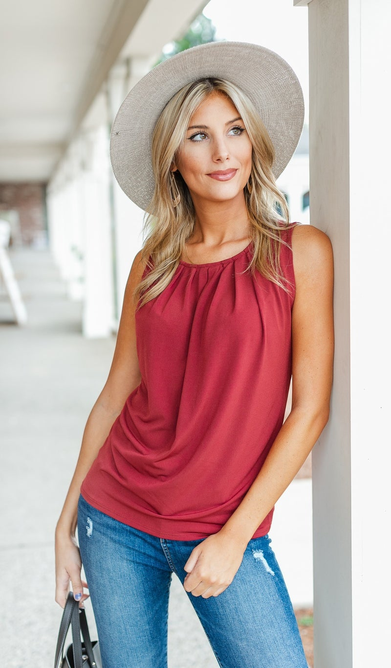 Feeling Confident Tank, Taupe, Olive or Rust