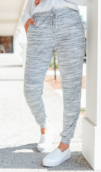 Side Line Joggers, Marbled Grey